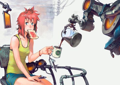 The Coffee Maker by asuka111