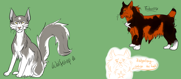 Wolfstep and Emberstar by Raavenna