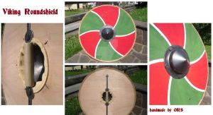 Tricolore viking roundshield by enrico-ors-91