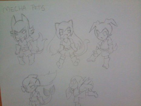 Mecha_Pets_Drawing_by_TVMiluna by TVMiluna