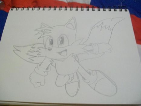 Drawing: Tails by TheSonicfan8