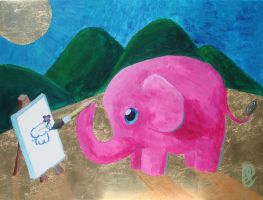 Pink Elephant wants a Friend by Peeba