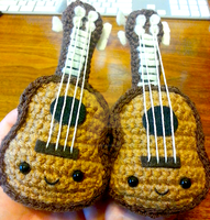 Two Kawaii Ukulele Amigurumi Are Better Than One by Spudsstitches