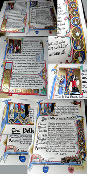 Illuminated Manuscript- Great Library of the Clayr by Alerane