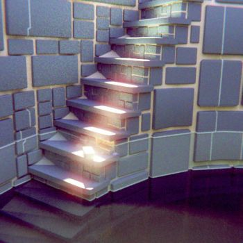 Masonry Spiral Stairs Water by dudecon