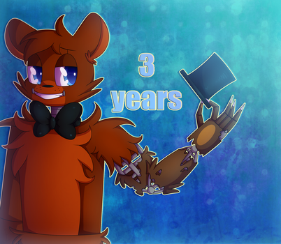 :3rd FNaF Anniversary: by SoundwavePie