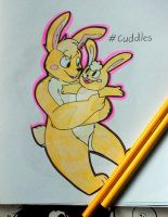 .:Cuddles the bunny:. by Rougeprincess897