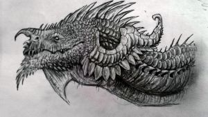 Dragon head (old sketch) by WhiteRose2132