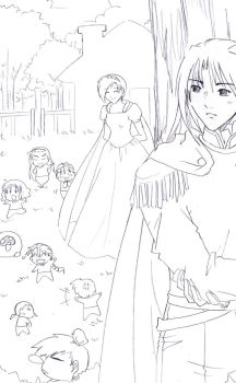 Snow White feat Gundam Wing by Wilwatikta