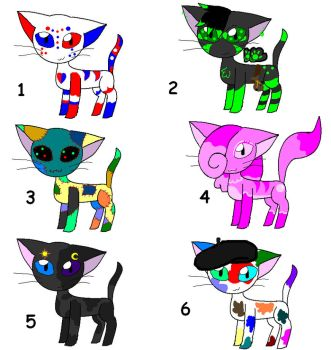 Adoptables by animecat237