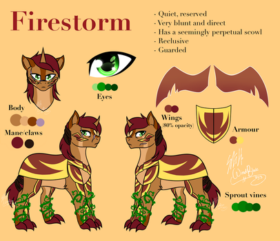 OC Reference - Firestorm (Grotto Semi-Admin char.) by WindBlade2313