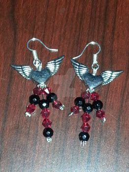 On The Wings of Love Earrings by TheCraftyMaiden