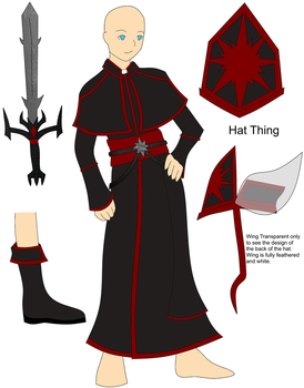 Cleric Clothes Red Reference by RavenTheraphosa