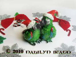 Severe Macaws Ornament by NadilynBeato