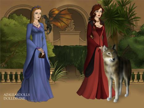 ZaJR and me in Game of Thrones by titanicdragon