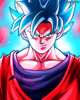 Son Goku (SSB Kaioken) - Dragon Ball Fanart by TomislavArtz