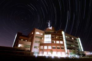 Star Trail - National Weather Center by Bvilleweatherman