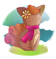 Little Vulpix by ice-cream-skies