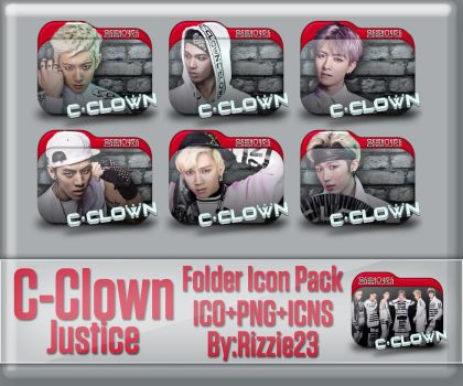 C-Clown Justice Folder Icon Pack by Rizzie23