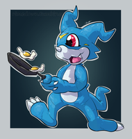 Veemon - Day 1353 by Seracfrost