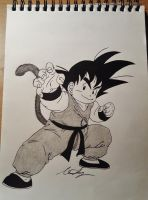 Kid Goku by LadyAlvarez