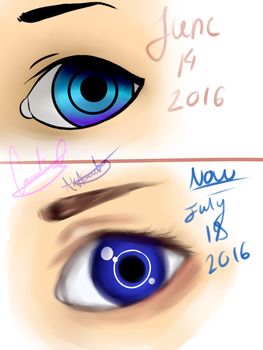 eye progress by AKACarebear