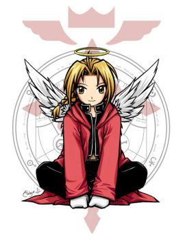 FMA :: Angelic Edward by waterlilly