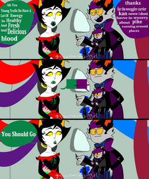 Homestuck Comics She'll Drink Ur Kid Blood by sylviathecrazygirl