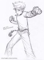 Manga Fighting Pose: Punching Fists by MikeKoizumi