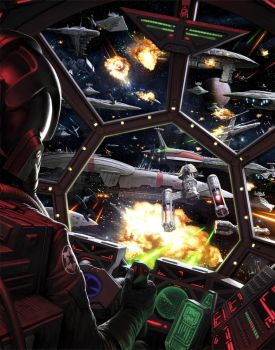 Battle of Tingel Deepspace Besh by wraithdt