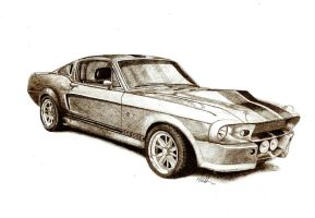 shelby mustang by tin23uk