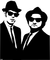 Blues Brothers Stencil by Six-Hundred