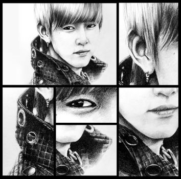 BAP - Daehyun Drawing Details by LyricaDreams