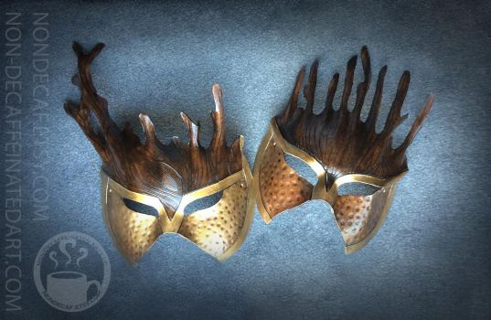 Warrior leather mask by Non-DecaffeinatedArt by nondecaf