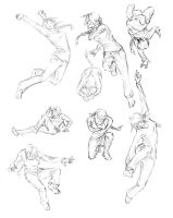 Girl Action Poses by whistlebird