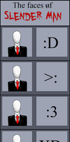 The Faces of Slender Man by Hitsujin