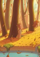 Golden forest by SandraCharlet