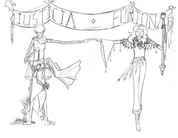 Iusticia and Fortuna by mintflower