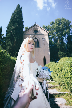 Fate/Stay Night - Saber (wedding dress) 4 by KiaraBerry