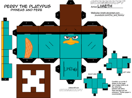 Perry the Platypus Cubee by LimeTH