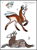 Sketchies batch 12 - strange deerish thingies by OhMyAdopts