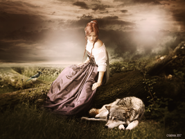 The wolf in silence by tinnatinna