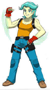 Drum Role's Special Costume - Explosive Knuckle by RJ-Streak