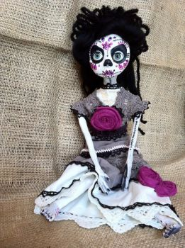 Nellie Dia De los Muertos Doll by LuLusApple
