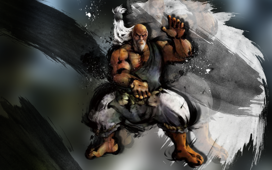 SF4 Gouken 1680 x 1050 by Nesk01