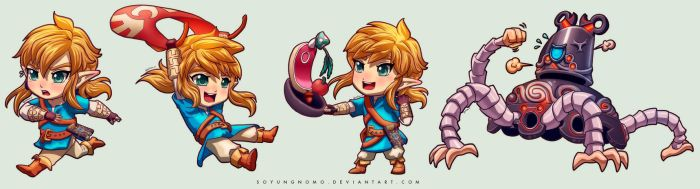 Breath of the Wild - Chibi Set by SoyUnGnomo