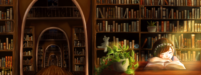 Library of Life by Guava-Pie