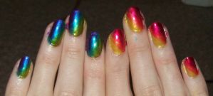 Hot and Cold nails by jenna-daydreamer93