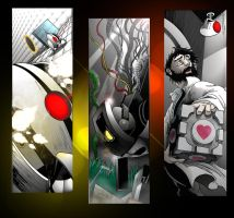 Portal 2 Book Mark Set 2 by SemajZ