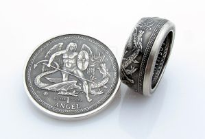 Isle of Man Angel Coin Ring by TCSCustoms
